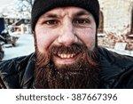 Bearded Dirty Man Winter