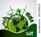 save world design  | Shutterstock . vector #387668623