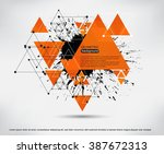 abstract background with paint... | Shutterstock .eps vector #387672313