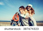 friendship  leisure and people... | Shutterstock . vector #387674323