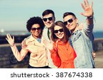 friendship  tourism  travel and ... | Shutterstock . vector #387674338