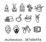 spa therapy icon | Shutterstock .eps vector #387686956