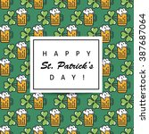 st. patrick's day flat thin... | Shutterstock .eps vector #387687064
