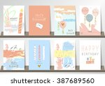 light pink blue collection for... | Shutterstock .eps vector #387689560