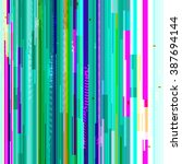 vector glitch background.... | Shutterstock .eps vector #387694144