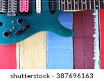 Colorful Guitar With Colorful...