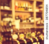blurred classic bar counter | Shutterstock . vector #387704854