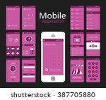 pink background mobile app...
