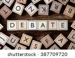 the word of debate on building... | Shutterstock . vector #387709720