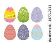 easter egg icon on the white... | Shutterstock .eps vector #387710953