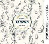 Almond Tree Design Template....