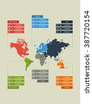 flat infographics template map... | Shutterstock .eps vector #387720154