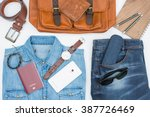 men's casual outfits with... | Shutterstock . vector #387726469