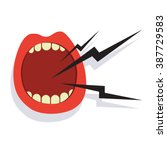 cartoon screaming mouth icon... | Shutterstock .eps vector #387729583