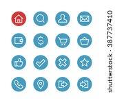 website vector icon set  ... | Shutterstock .eps vector #387737410