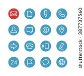 contacts vector icon set  ... | Shutterstock .eps vector #387737560