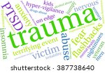 trauma word cloud on a white... | Shutterstock .eps vector #387738640