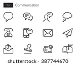 communication vector icons set... | Shutterstock .eps vector #387744670