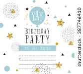 creative birthday card. simple... | Shutterstock .eps vector #387746410