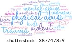 physical abuse word cloud on a...   Shutterstock .eps vector #387747859