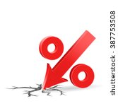 percent down icon with surface... | Shutterstock . vector #387753508