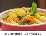 peruvian food  cau cau de... | Shutterstock . vector #387753880