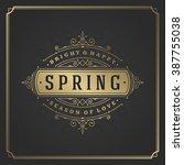 spring vector typographic... | Shutterstock .eps vector #387755038