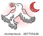 abstract image of white raven ... | Shutterstock .eps vector #387755638
