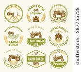 farm fresh set of vector... | Shutterstock .eps vector #387755728