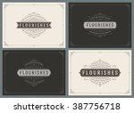 vintage ornament greeting cards ... | Shutterstock .eps vector #387756718