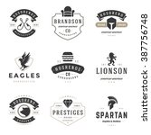 vintage logos design templates... | Shutterstock .eps vector #387756748