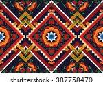 geometric ethnic oriental... | Shutterstock .eps vector #387758470