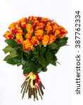 Bouquet With Orange Roses In A...