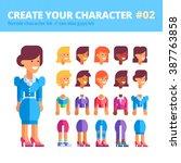 female character creation kit.... | Shutterstock .eps vector #387763858