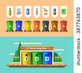 waste management and recycle... | Shutterstock .eps vector #387763870