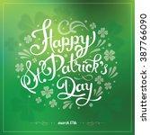 saint patrick's day hand...   Shutterstock .eps vector #387766090