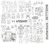 wardrobe. big hand drawn...   Shutterstock .eps vector #387772048