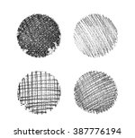 set of hand drawn grunge... | Shutterstock . vector #387776194