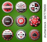 poker chips icons set  casino... | Shutterstock .eps vector #387778000