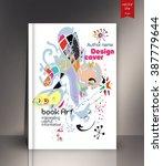 blank vertical hardcover book... | Shutterstock .eps vector #387779644