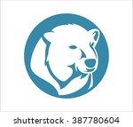 polar bear head abstract circle | Shutterstock .eps vector #387780604