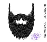 hairy curly hipster strong... | Shutterstock .eps vector #387783928