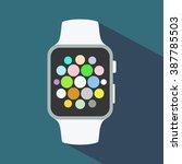 smart watch flat icon. vector...   Shutterstock .eps vector #387785503