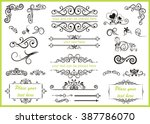 set with different swirled... | Shutterstock .eps vector #387786070