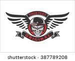 skull rider wings | Shutterstock .eps vector #387789208