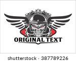 skull riders and motorcycle... | Shutterstock .eps vector #387789226