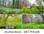 A Collage Of Spring View From...