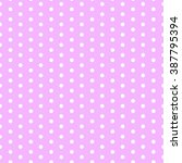 white dots pink background...   Shutterstock .eps vector #387795394