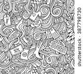 cartoon vector doodles hand... | Shutterstock .eps vector #387798730