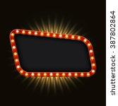 modern retro billboard... | Shutterstock . vector #387802864